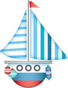 Boat In The Water For Baby Clipart.