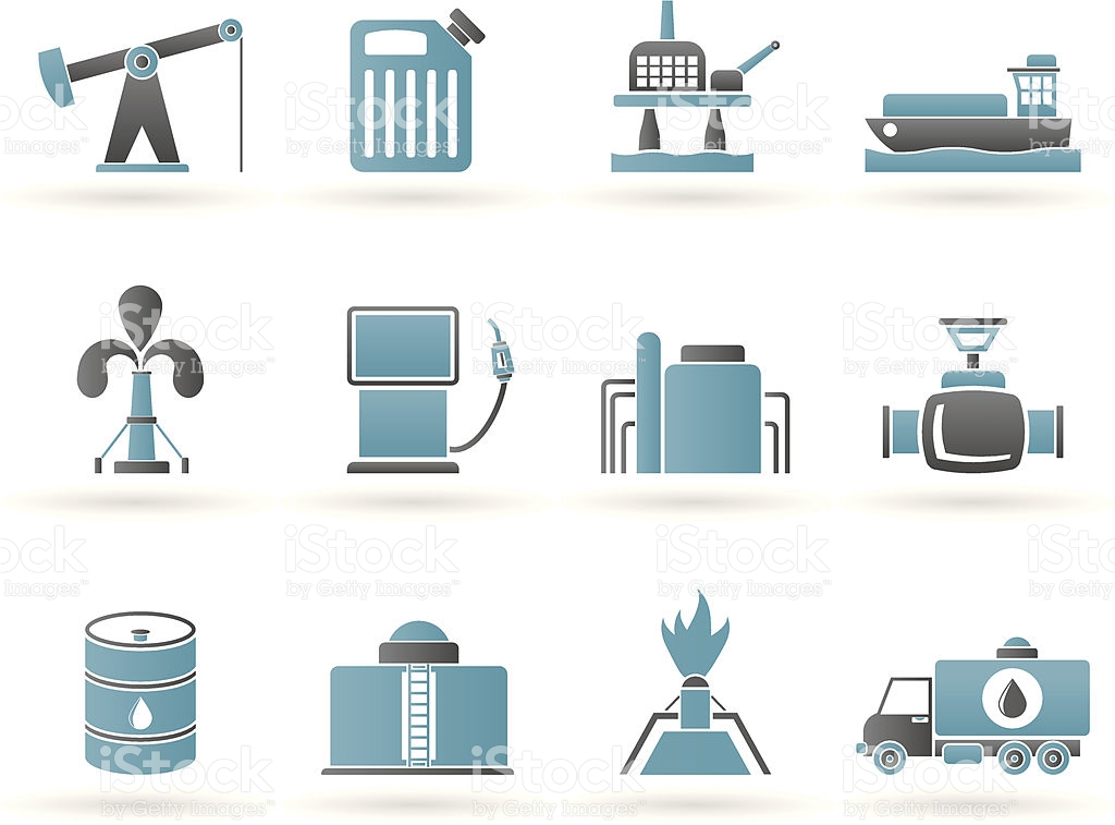 Oil And Petrol Industry Icons stock vector art 164441055.