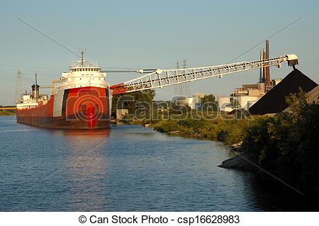 Pictures of Coal Ship Unloading.