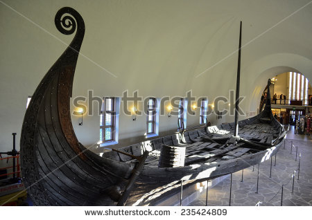 Viking Ship Stock Images, Royalty.