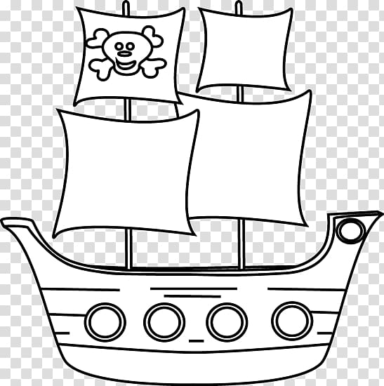 Piracy Pirate ship Free content , Ship Outline transparent.