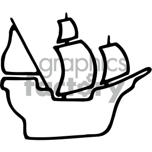 ship outline clipart. Royalty.