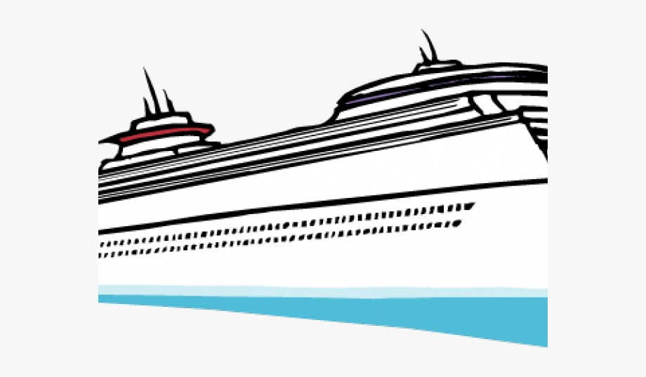 Cruise Ship Clipart Graphic.