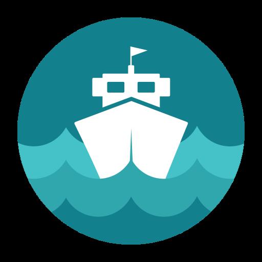 Citycons, sea, ship icon.
