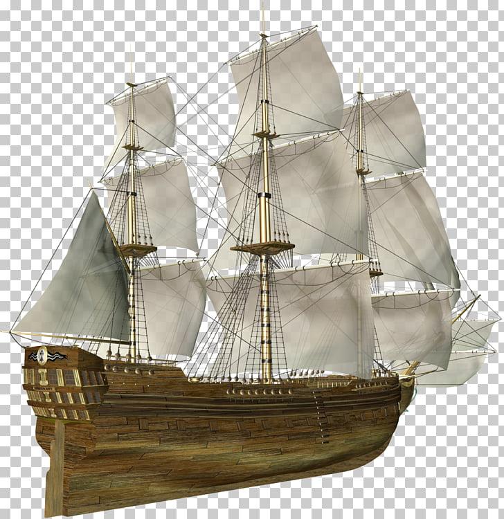 Sailing ship, Sailing PNG clipart.
