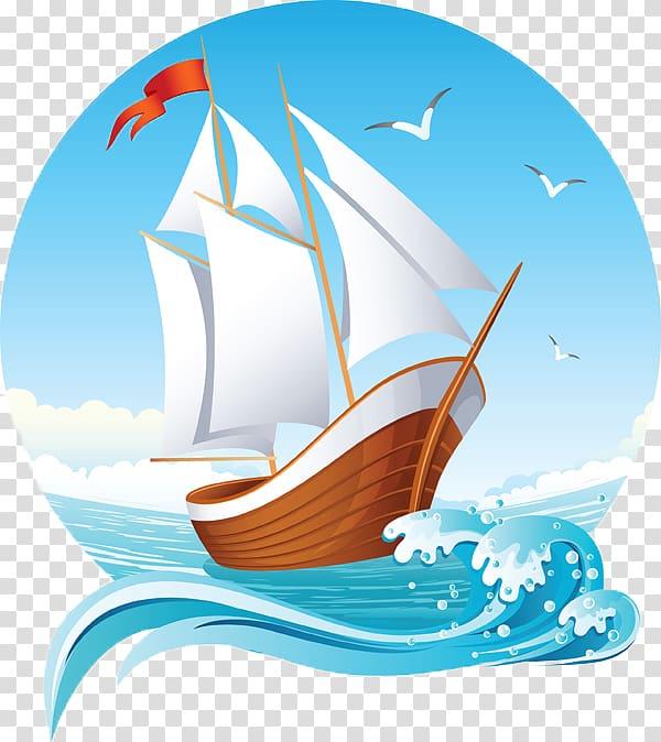 Sailing ship , Sailing pattern transparent background PNG.