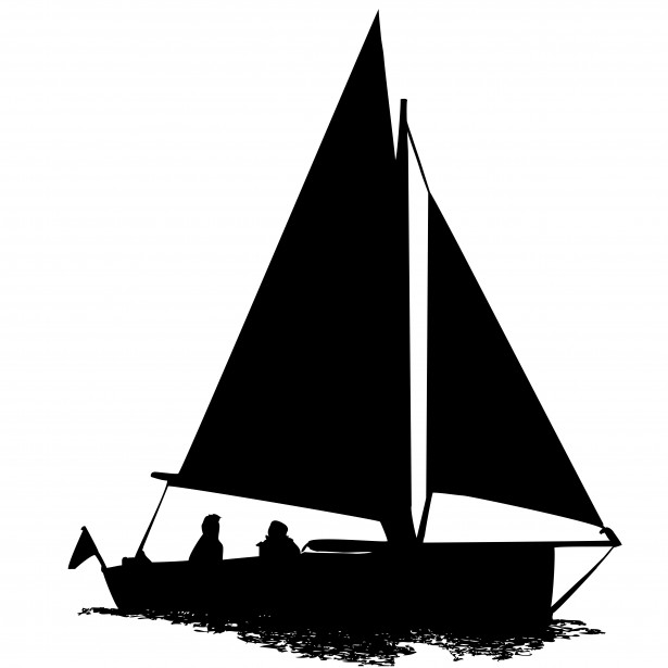Sailing Boat Silhouette Clipart Free Stock Photo.