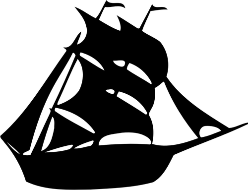 Ship silhouette clip art.