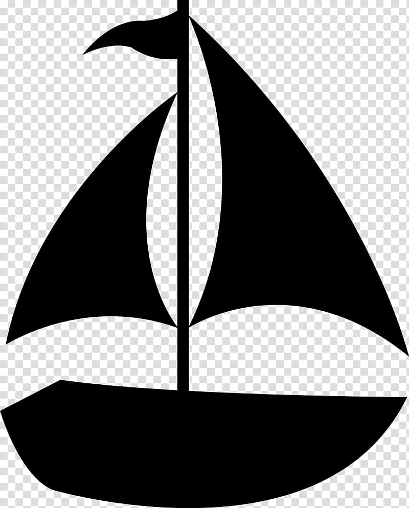 Sailboat Silhouette Ship , Play Boat transparent background.