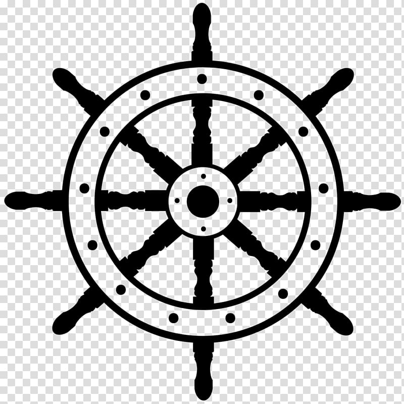 Ship\\\'s wheel Boat , steering wheel transparent background.