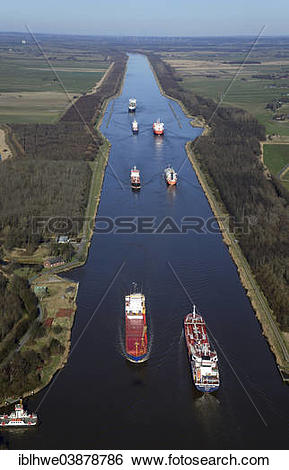 "Stock Images of ""Ship traffic on the Kiel Canal or Nord."