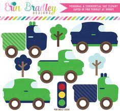 Transportation Clipart ,Car, Taxi, School Bus, Police Car, Truck.