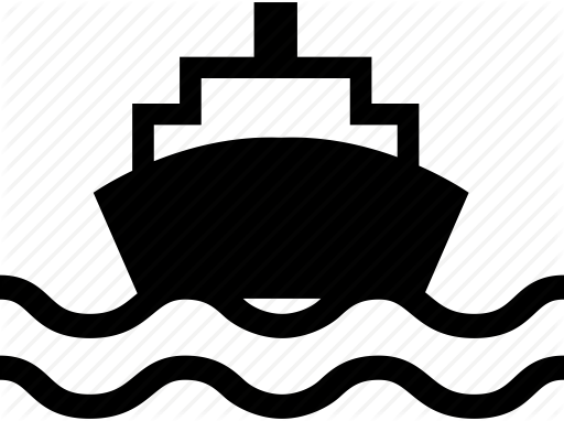 Boat, delivery, ship, traffic, transport, travel, waterway icon.