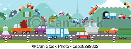 Ship traffic jams clipart #10