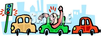 Traffic Jam Clip Art.