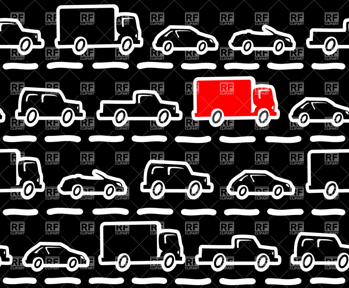 Traffic jams seamless background.