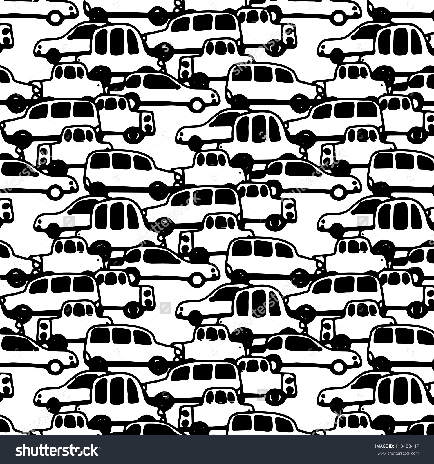 Traffic Jam Stock Vector 113488447.