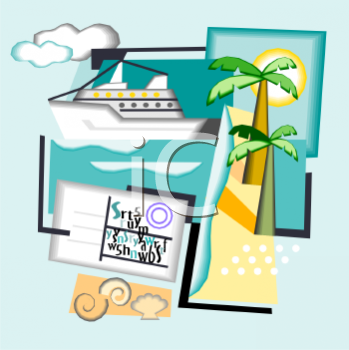 Cruise Ship and Other Travel Icons.