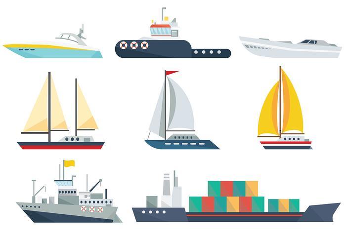 Ship Icons Vector.