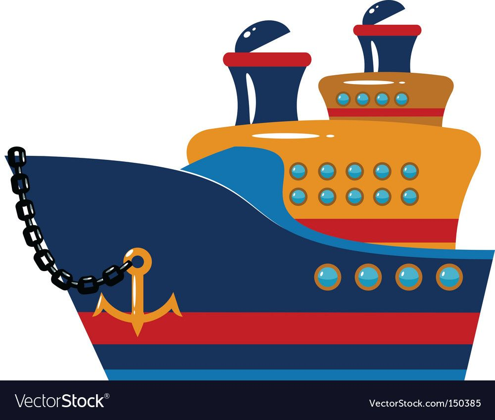 Toy ship Royalty Free Vector Image.