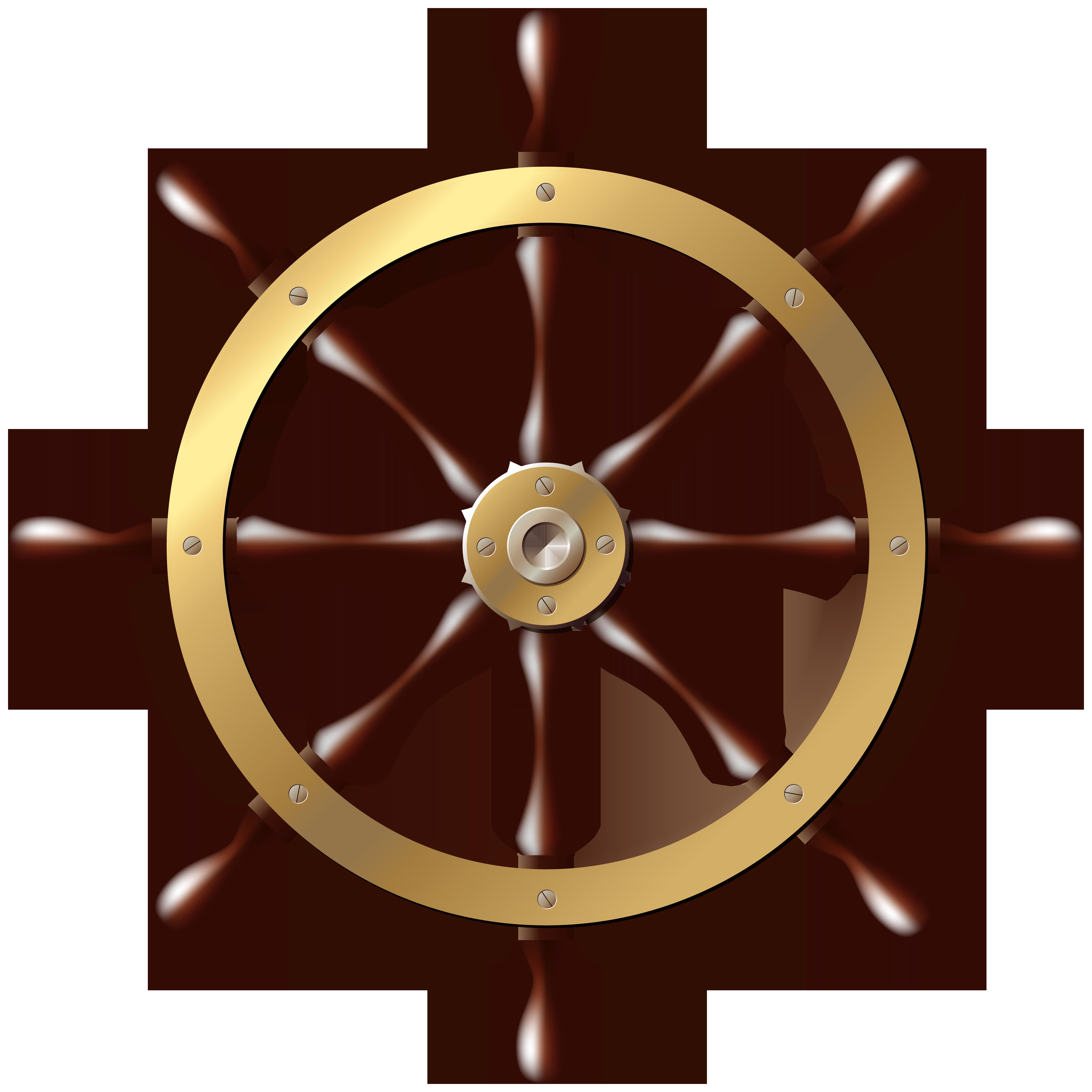 Ship Wheel PNG Clip Art.