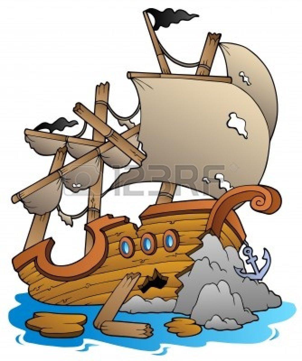 Ship wreck clipart #12