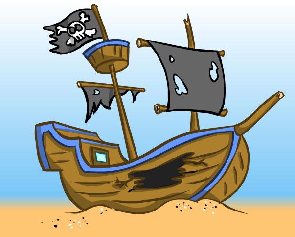Ship wreck clipart #20