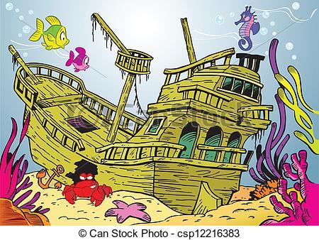 Ship wreck clipart #11
