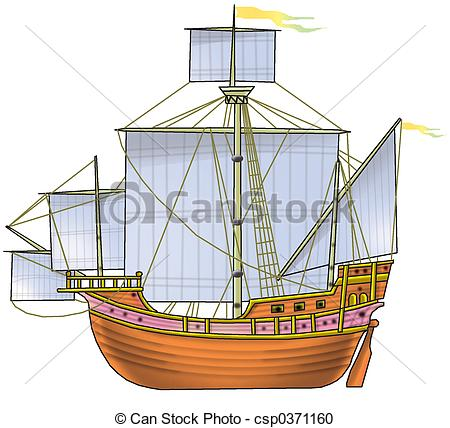 Stock Illustration of The ship 2.