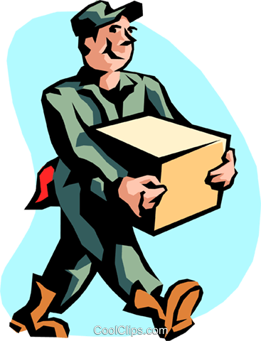 shipping and receiving Royalty Free Vector Clip Art.