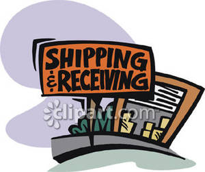 Shipping & Receiving Sign Clipart Picture.