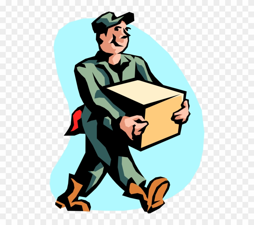 Vector Illustration Of Warehouse Shipping And Receiving.