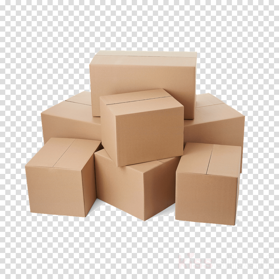 box shipping box carton beige packaging and labeling clipart.