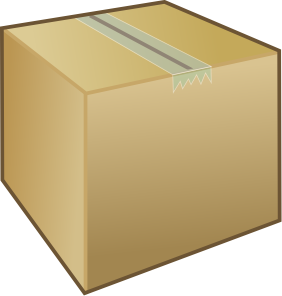 Shipping box clipart.