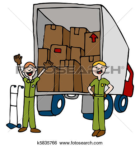 Clip Art of Moving Truck Company k6965397.
