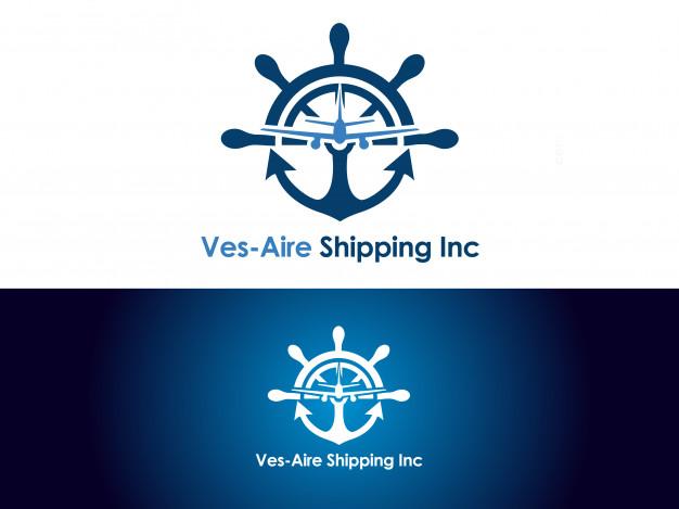 Shipping & cargo company logo design Vector.