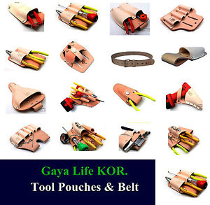NEW Various Leather Belt Clip Pocket Tool Pouches & Belt.