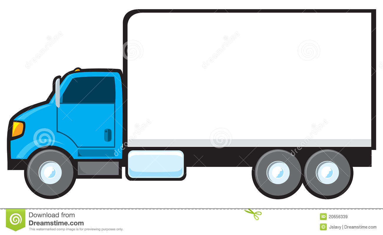 Collection of Delivery truck clipart.