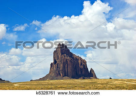 Stock Photography of Shiprock k6328761.
