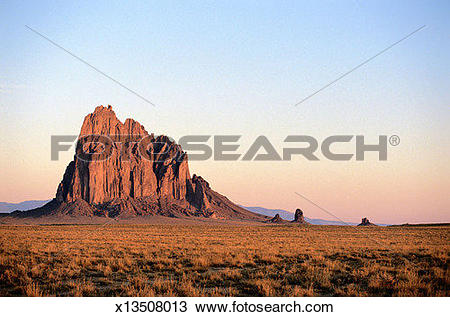 Stock Photo of Shiprock at Dawn x13508013.