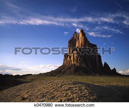 Stock Photography of Shiprock k0470980.