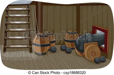 Vector Illustration of Ship Cannon.