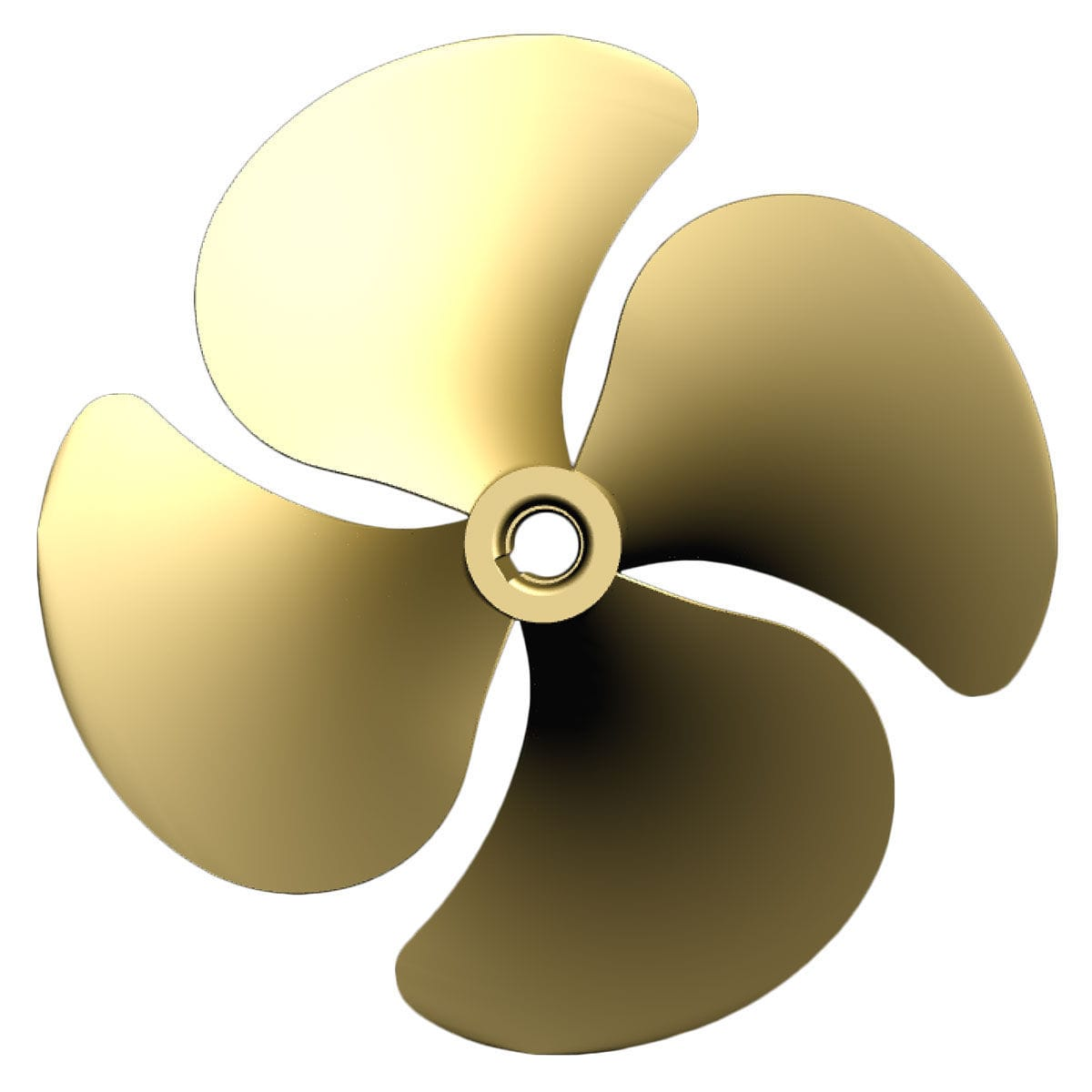 Ship propeller / for yachts / skew / fixed.