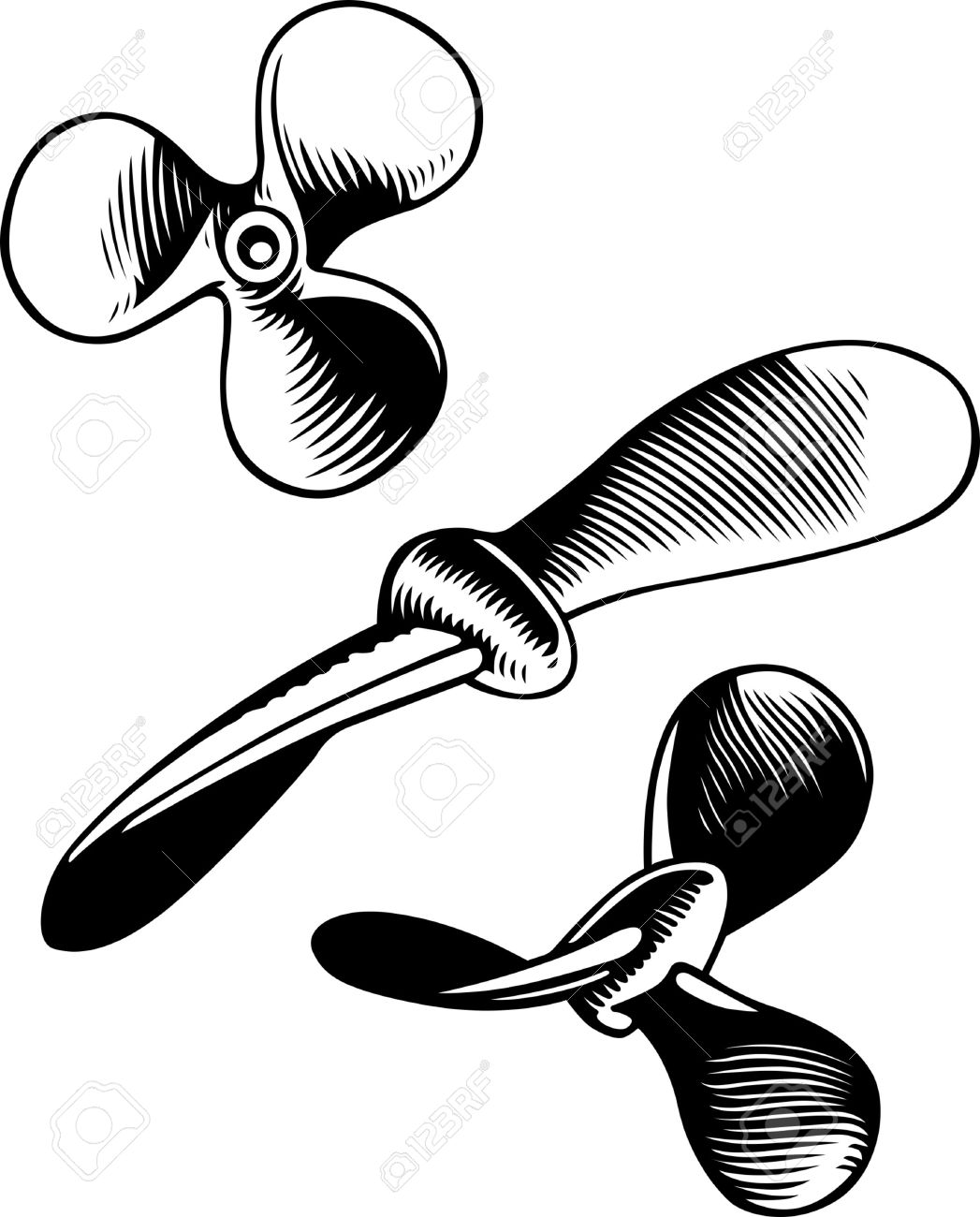 Propellers On White Royalty Free Cliparts, Vectors, And Stock.