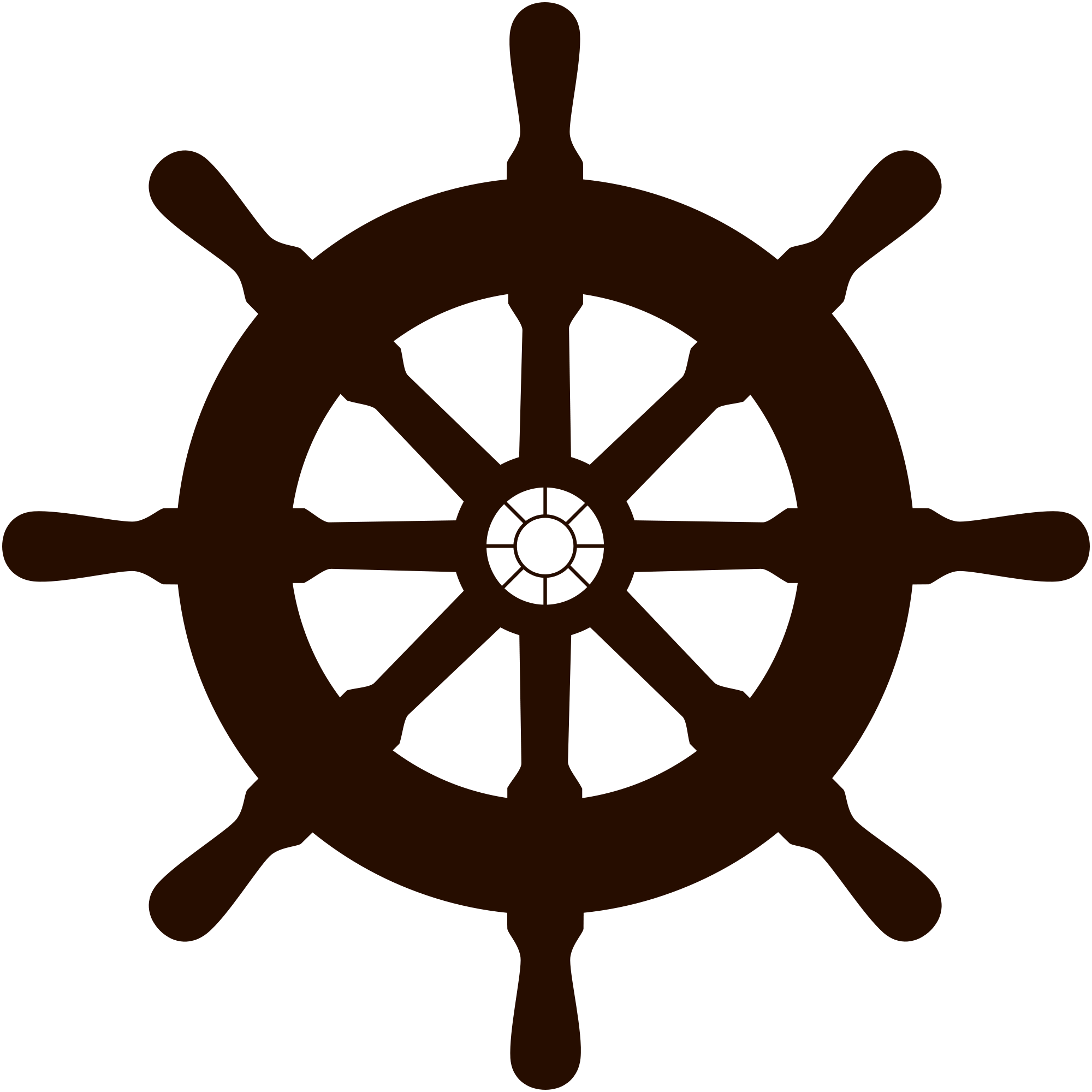 Ship Wheel Silhouette Png Free Download #305575.