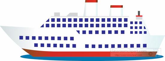 893 Cruise Ship free clipart.