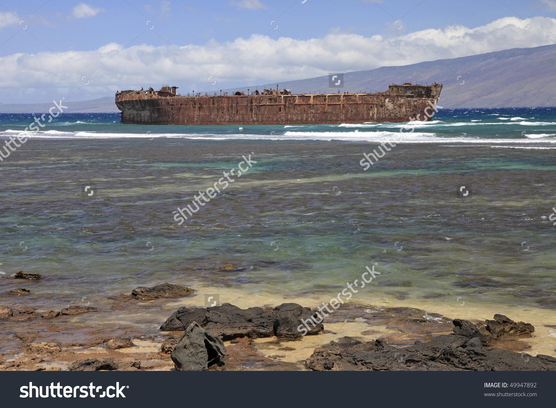 Shipwrecks On the Beach Clip Art.