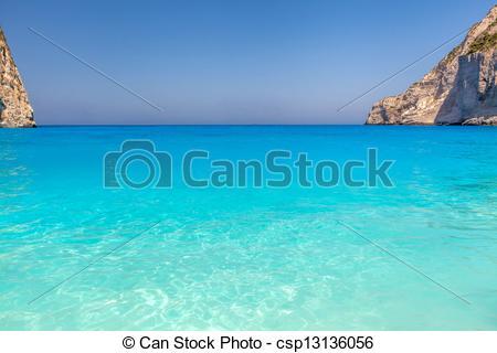 Stock Images of Famous shipwreck beach (Navaggio beach) on Zante.