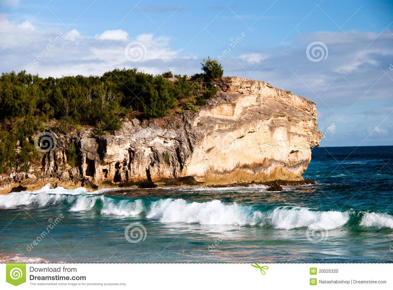 Shipwreck Beach Stock Photo.