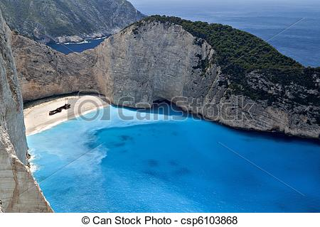 Pictures of Shipwreck beach at Zakynthos.